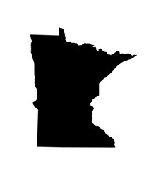 Map of the us state of minnesota vector