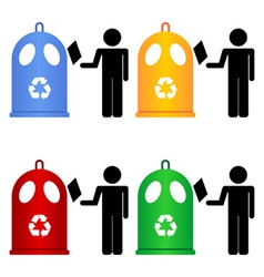 recycling trash signs vector image