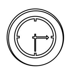 silhouette symbol clock icon vector image vector image