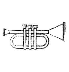 trumpet music instrument symbol vector image