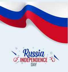 3d realistic russian flag waving wind vector