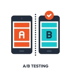 Ab testing flat concept vector