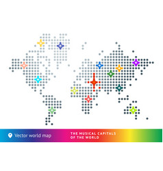 Abstract map world vector