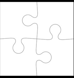 abstract white background icon jigsaw vector image