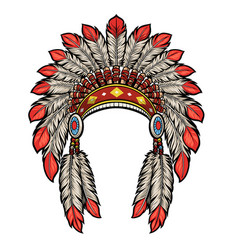 American native indian head dress vector