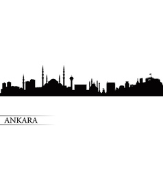 Ankara city skyline silhouette background vector image