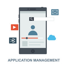 Application management concept design vector