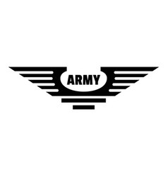 Army logo simple style vector