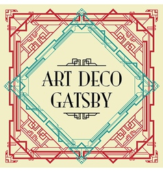 art deco gatsby wedding invite vector image