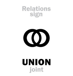astrology union join vector image
