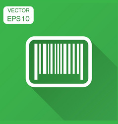 Barcode product distribution icon with long vector