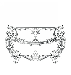 Baroque classic commode table furniture vector