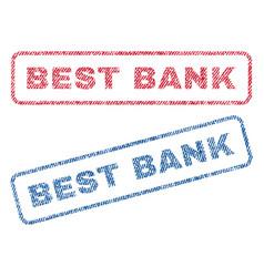 Best bank textile stamps vector