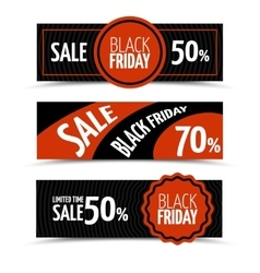 Black friday horizontal banners set vector image