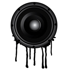 black speaker and splash vector image