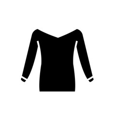 blouse icon black sign on vector image