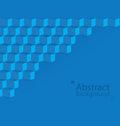 blue abstract background square 3d modern paper vector image
