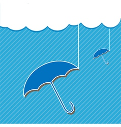 Blue umbrella and Cloud vector image