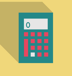 Calculator icon in flat style isolated vector