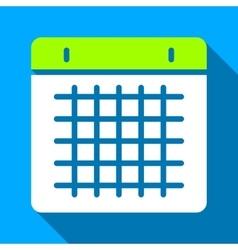 Calendar Flat Long Shadow Square Icon vector