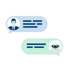 chatbot robot concept dialog help service user vector image