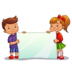 Children with paper vector