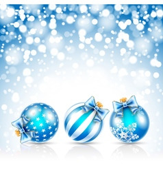 Christmas blue bals vector