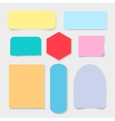 Color paper on a light background vector