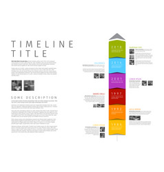 Colorful vertical infographic timeline report vector