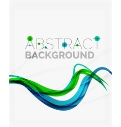 Corporate fresh business wave design vector image