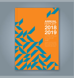Cover annual report 869 vector
