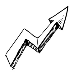 Crankle arrow vector image
