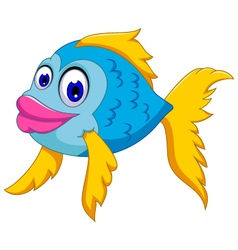 cute fish cartoon posing vector image