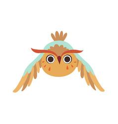Cute owlet flying adorable owl bird cartoon vector