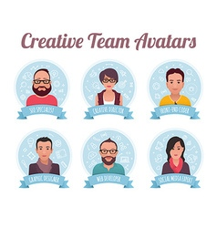 Digital Marketing Team Avatars vector