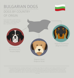 Dogs by country of origin bulgarian dog breeds vector