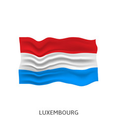 flag luxembourg vector image