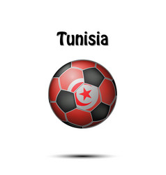 flag of tunisia in the form of a soccer ball vector image