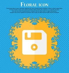 Floppy Floral flat design on a blue abstract vector