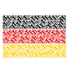 germany flag pattern of wrench icons vector image