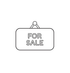 Icon concept for sale written on hanging sign vector