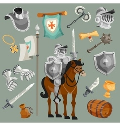 Knights Cartoon Set vector