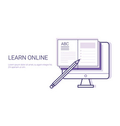 learing online business concept elearning vector image