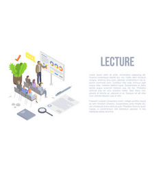 Lecture concept background isometric style vector