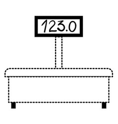 machine of weighing icon in black dotted vector image