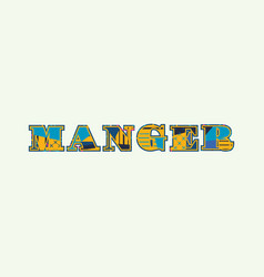 Manger concept word art vector