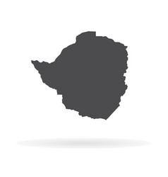 map zimbabwe isolated black vector image