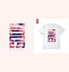 miami graphic tee design typography print vector image