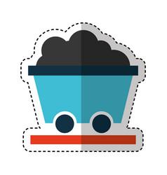 mine wagon isolated icon vector image