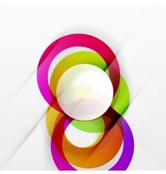 Modern colorful abstract circles vector image